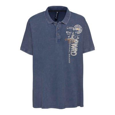 Herren-Poloshirt in Oil-Washed-Optik, große Größen