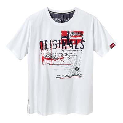 Herren-T-Shirt in nordischem Design, große Größen