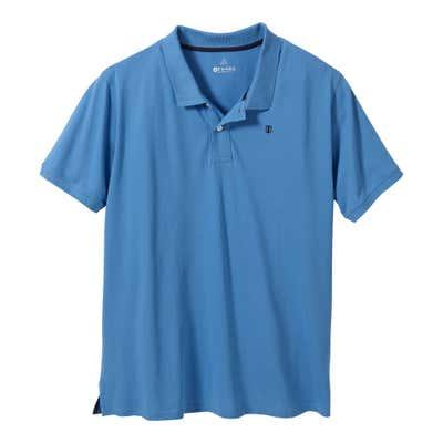 Herren-Poloshirt mit 2 Knöpfen, große Größen
