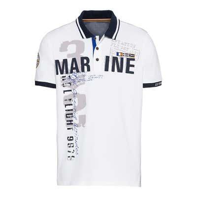 Herren-Poloshirt mit großem Aufdruck