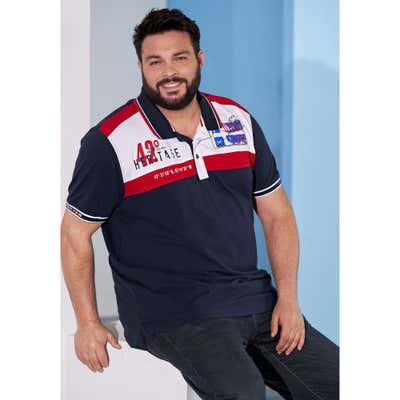 Herren-Poloshirt mit Streifen-Design, große Größen