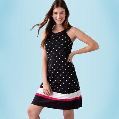 Damen-Kleid mit Bordüre