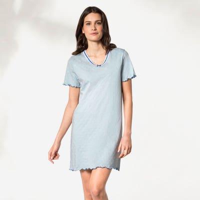 Damen-Nachthemd mit Zierschleife