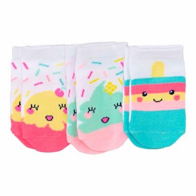 Baby-Mädchen-Socken mit Eis-Musterung, 3er-Pack