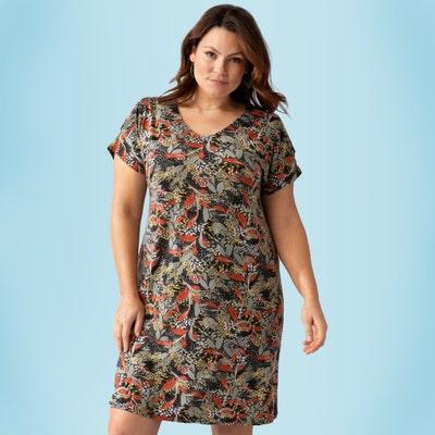 Damen-Kleid mit Schulterschlitz