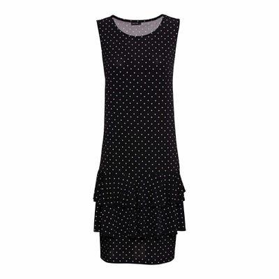 Damen-Kleid mit weißen Punkten