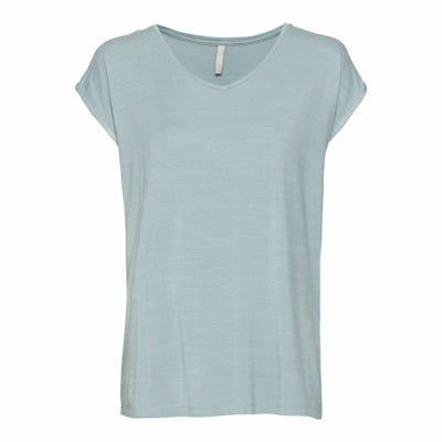 Damen T-Shirt mit Lurex-Streifen