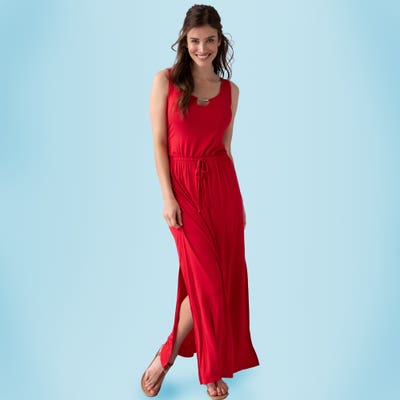 Damen-Kleid mit seitlichem Schlitz
