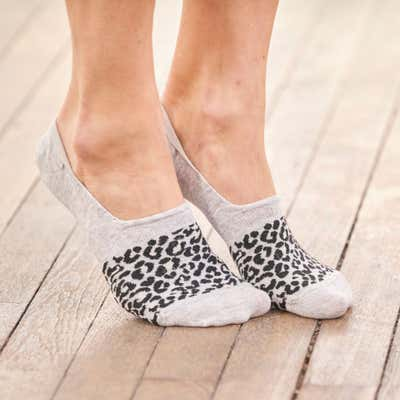 Damen-Sneaker-Füßlinge mit Antislip-Funktion, 2er-Pack