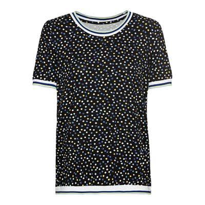 Damen-T-Shirt mit gestreiftem Zierband