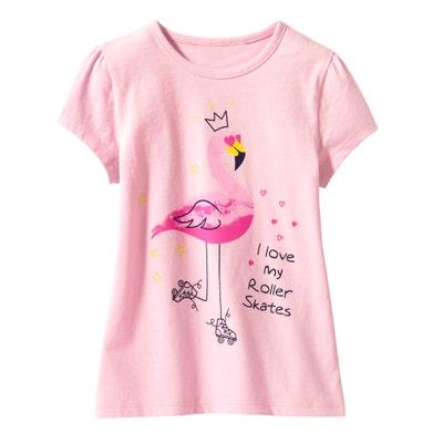 Kinder-Mädchen-T-Shirt mit süßen Motiven, 2er-Pack