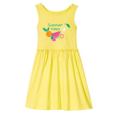 Kinder-Mädchen-Kleid im sonnigen Design