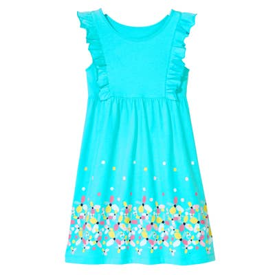 Kinder-Mädchen-Kleid mit Rüschen