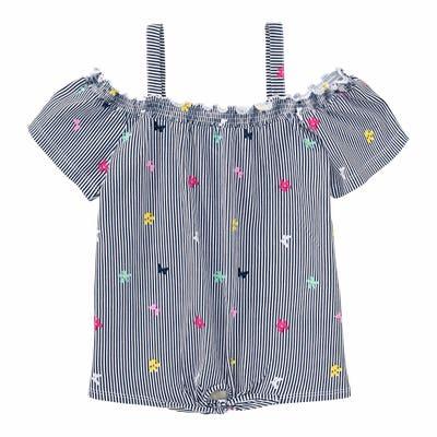 Mädchen-T-Shirt mit Streifen