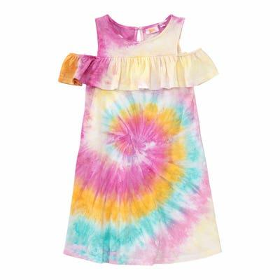 Mädchen-Kleid in Bartik-Optik