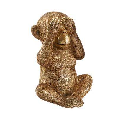 Deko-Figur Affe in Holzoptik, ca. 9x9x13cm