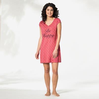 Damen-Nachthemd mit Punkten