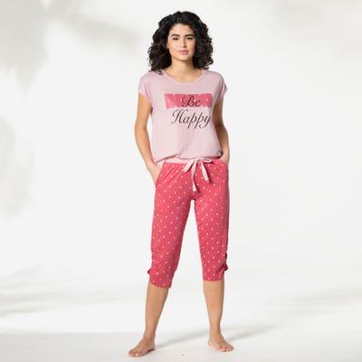 Damen-Schlafanzughose mit Punkten