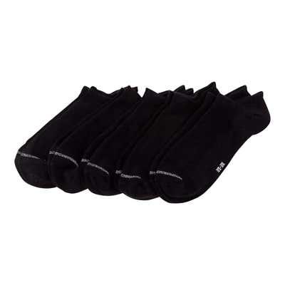 Damen-Sneaker-Socken mit Glitzerstreifen, 5er-Pack