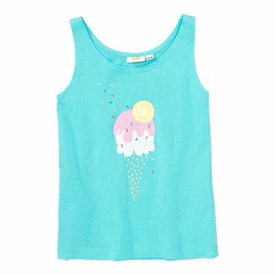 Mädchen-Top mit Eiscreme-Aufdruck