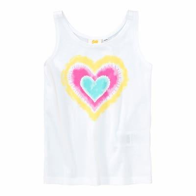Mädchen-Top mit großem Herz-Aufdruck