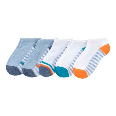 Jungen-Sneaker-Socken mit Streifen, 5er-Pack