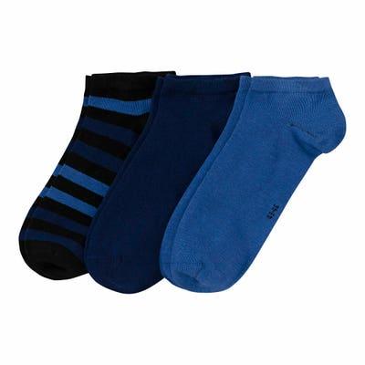 Herren-Sneaker-Socken mit Baumwolle, 3er-Pack