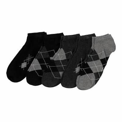 Herren-Sneaker-Socken mit Rhombus-Muster, 5er-Pack