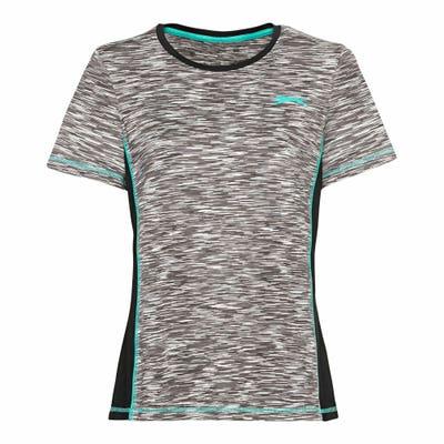 Slazenger Damen-Sport-T-Shirt mit Kontrastnaht