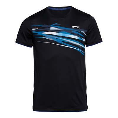 Slazenger Herren-Sport-T-Shirt mit großem Front-Aufdruck