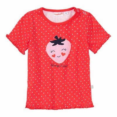 Baby-Mädchen-T-Shirt mit rosa Erdbeere