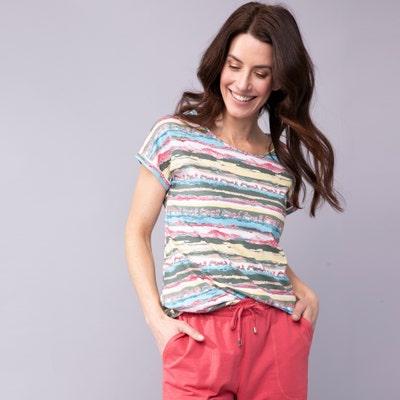 Damen-T-Shirt mit elastischem Saum