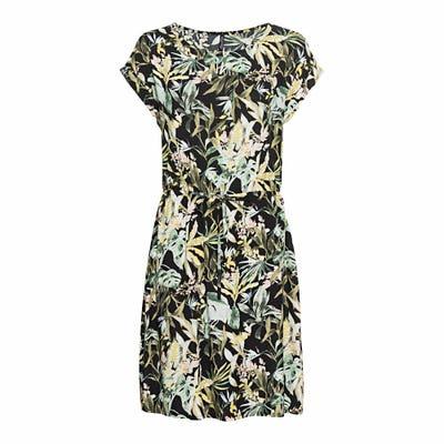 Damen-Kleid mit Blumenmuster, mit Bindebändern
