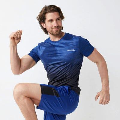 Herren-Sport-T-Shirt mit Farbverlauf