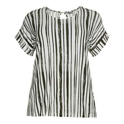 Damen-T-Shirt mit Streifen, große Größen