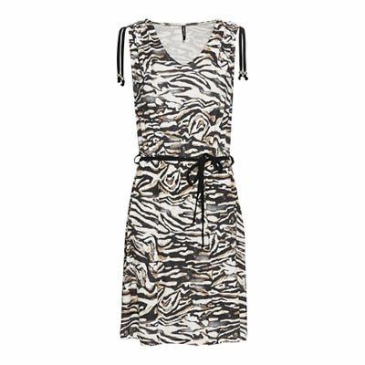 Damen-Kleid mit Tiermuster, mit Bindegürtel