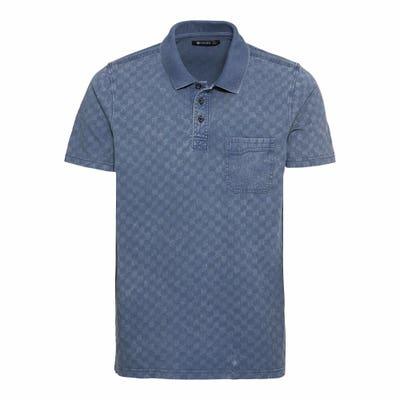 Herren-Poloshirt mit Schachbrett-Muster