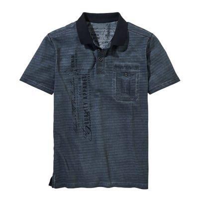 Herren-Poloshirt mit Öl-Waschungen