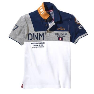 Herren-Poloshirt mit Farbblöcken