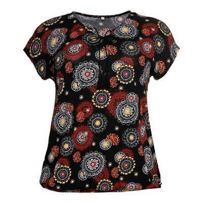 Damen-T-Shirt mit Tasseln, große Größen