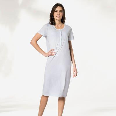 Damen-Nachthemd mit Knopfleiste