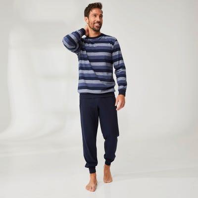 Herren-Schlafanzug in Ringel-Optik, 2-teilig
