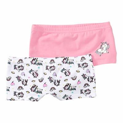 Mädchen-Panty mit Einhorn-Aufdruck, 2er-Pack