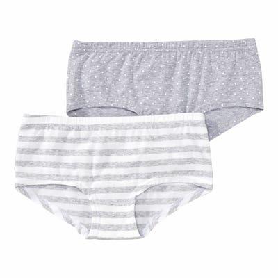 Mädchen-Panty mit Streifenmuster, 2er-Pack