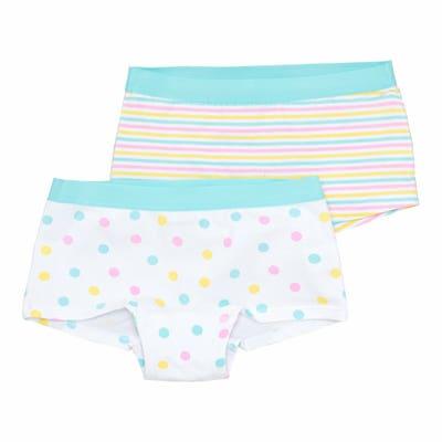 Mädchen-Panty mit Webbund, 2er-Pack
