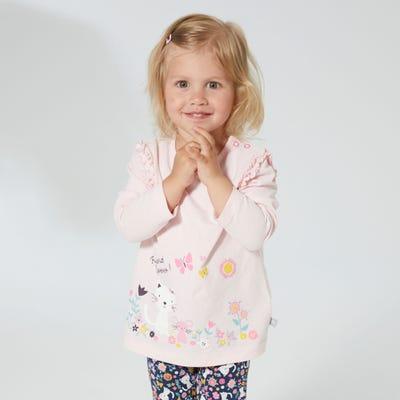 Baby-Mädchen-Shirt mit Rüschen