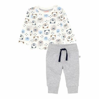 Baby-Jungen-Set mit Bären-Muster, 2-teilig