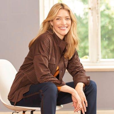 Damen-Jersey-Jacke mit Gürtel