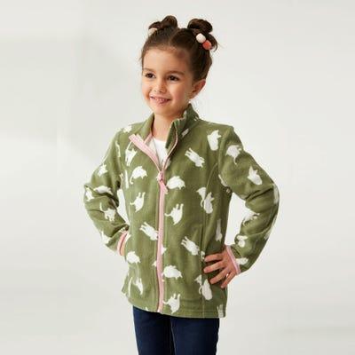 Mädchen-Fleecejacke mit tollem Muster