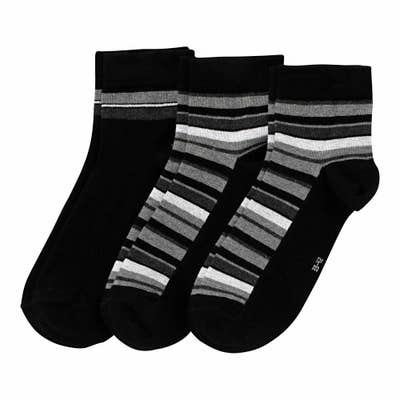 Herren-Kurzschaft-Socken, 3er-Pack